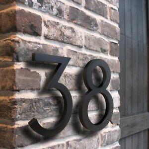 Door Plates Number Aluminium Floating Sign Modern Building Outdoor Address Kit