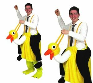Crazy Ride On Ostrich Panto Pantomine Emu Mascot Adults Fancy Dress Outfit