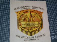 """Victor"" Safe Antique Decal, Emblem, Sticker, Reproduction"