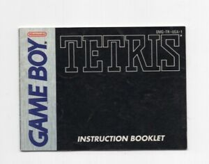 Tetris Game Boy MANUAL ONLY Authentic
