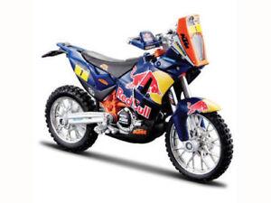 Ktm Dakar Rally Réplique 1/18 Redbull Fa Motocross MX Jouet Modèle Vélo Orange