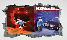 Roblox,3D,Kids,Sticker,Decal,Bedroom,Wall Art,Mural