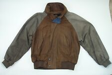 VINTAGE Brown Glove Leather ABERCROMBIE AND FITCH Bomber Jacket - Men's Size L