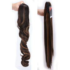 Long Layered Ponytail Clip In Hair Extension Claw Pony Tail Fake Hair human Arc