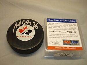 Martin St. Louis Signed Team Canada Hockey Puck Rangers Lightning PSA/DNA COA 1A