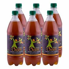 """Ostlers Raw Vintage Cloudy Cider Vinegar with """"The Mother"""" 6 x 1 ltr"""