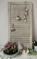 Fensterladen *Holz Grau weiß Gartendeko Küche Shabby Chic Deko 48x30cm Vintage