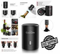 Vacuum Wine Preserver Bottle Stopper Sealer Pump DateMake Silicone Seal Plug ABS