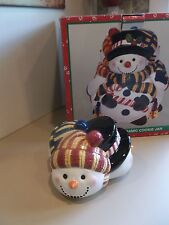 3-Bodied Snowmen Cookie Jar - LID ONLY