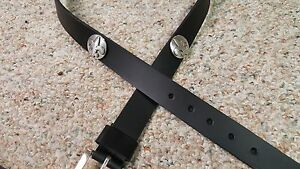 New Orleans Saints Leather Mens Belt Black with Conchos Size 28 to 46