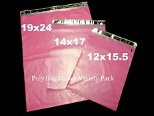 40 Pink Poly Bag Mailer Variety Pack 12x155 14x17 19x24 Large Shipping Bags