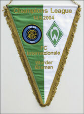 Uefa Champions league Football Match pennant 2004 Inter Milano v Werder Bremen