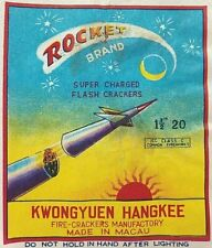 Vintage /rocket Brand Collectible Fireworks Label made by Kwongyuen Hangkee