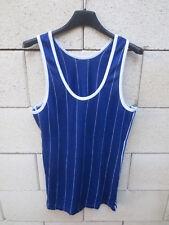 Débardeur Maillot ADIDAS vintage années 80 trikot camiseta jersey shirt bleu S