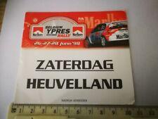R6* retro entrance card  BELGIUM YPRES WESTHOEK RALLY 1998 MARLBORO RACING