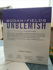 Rodan + Fields Unblemish Regimen for Acne Complete 4 Step Regime Exp 07/22