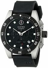 Electric Men's DW01 PU Black Chronograph Sports Dive Watch Rubber Strap Date New