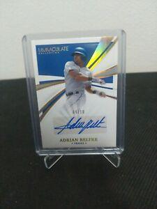 2021 Panini Immaculate Baseball card Adrian Beltre auto /10