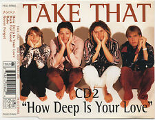 TAKE THAT - HOW DEEP IS YOUR LOVE - CD 2 3 Live Tracks - @@LOOK@@