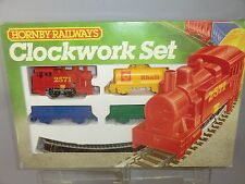 "HORNBY RAILWAYS CLOCK WORK MODEL No.R776 ""2571""  STEAM FEIGHT TRAIN SET VN MIB"