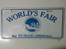 NEW ORLEANS 1984 WORLDS FAIR LICENSE PLATE..COLLECTIBLE..VINTAGE..NEW UNOPENED