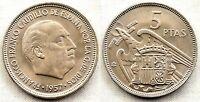 Estado Español. 5 Pesetas 1957*66 Madrid. SC/UNC/FDC. Escasa
