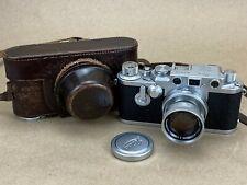 LEICA IIIF Red Dial Self Timer Vintage 1954 Camera #726720 w/ 5cm f/2 Summicron