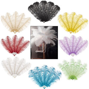 5/10 Pack Large Ostrich Feathers Plume Craft Trim Wedding Party Decoration Hat
