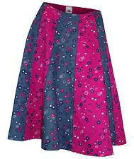 Geblümte knielange schwingende Damenröcke aus Baumwolle