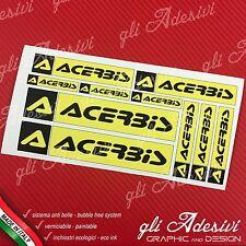 10 pièces Adhésifs Sponsor Techniciens ACERBIS Auto Moto Cross Yellow et le noir