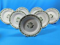 7 Vintage Hall China Cameo Rose Luncheon Plates 8.25""