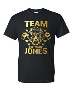 Team Jon Bones Jones Lion MMA Unisex T-Shirt Black