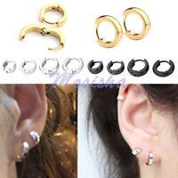 2-8x Stainless Steel Hoop Ear Helix Ear Hoop Stud Earrings Huggies Piercing-AD