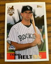 1996 Topps #13 TODD HELTON  DRAFT PICK CARD - Rockies NM or Better