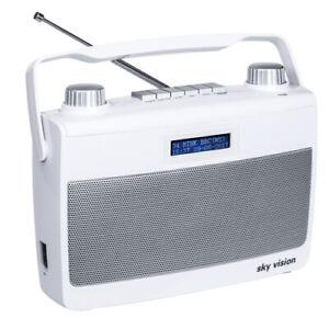DAB+ Radio sky vision DAB 8 W | Kofferradio | Digitalradio | tragbar | weiss