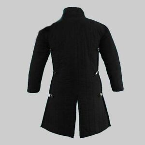 Black New Thick Padded Medieval Gambeson Costumes suit of Armor