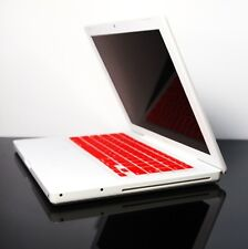 RED  Silicone Keyboard Skin Cover for OLD Macbook 13""
