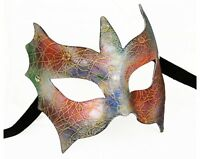 Genuine Venetian Mask Made in Italy Masquerade Costume Bright Colors Floral Prom