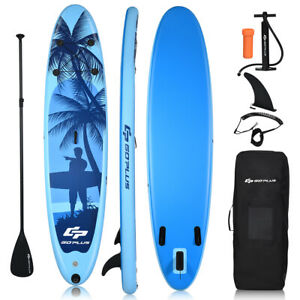 11' Inflatable Stand Up Paddle Board W/Carry Bag Adjustable Paddle Adult Youth