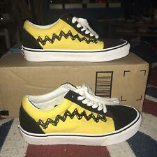 4de8fe6547 Peanuts Charlie Brown Good Grief Vans Old Skool Low Unisex Women s 7 Skate