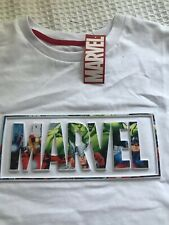 PRIMARK MEN'S MARVEL COMICS T SHIRT TEE TOP NEW WITH TAGS UK WHITE SIZE Medium M