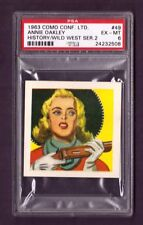 1963 Como Conf. Ltd. ANNIE OAKLEY #49 PSA EX-MT 6 History/Wild West Series 2