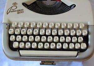 Mechanische Schreibmaschine Princess 100 mit Anleitung und Gewährleistung