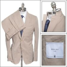 NWT BOGLIOLI Khaki Cotton Unconstructed 3/2 Rolling Slim Suit 58 48 R fits 46