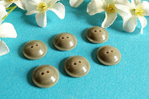 """929B Stunning Buttons """" Comet """" Grey Iridescent Lot Of 6 Buttons Period Vintage"""