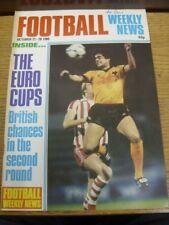 22/10/1980 Football Weekly News Magazine: No 62 (writing on front). Bobfrankande