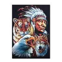 DIY 5D Full Drill Diamond Painting Embroidery Cross Stitch Indians Home Decor