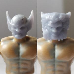 Mega construx custom wolverine head pack