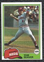 1981 81 Topps Tom Seaver Vintage Baseball Card #220 Cincinnati Reds HOF - MINT!