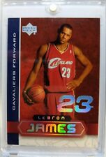 2003-04 UD SUPERSTARS LeBron James Rookie RC #LBJ5, Hard to Find Limited Insert
